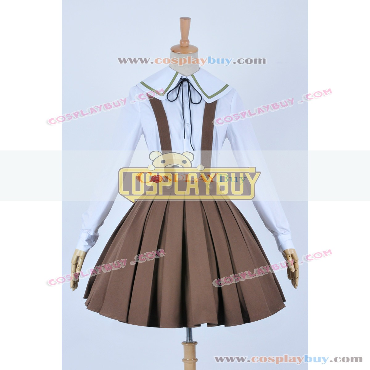 Danganronpa Dangan-Ronpa Chihiro Fujisaki Uniform Cosplay Costume Dress