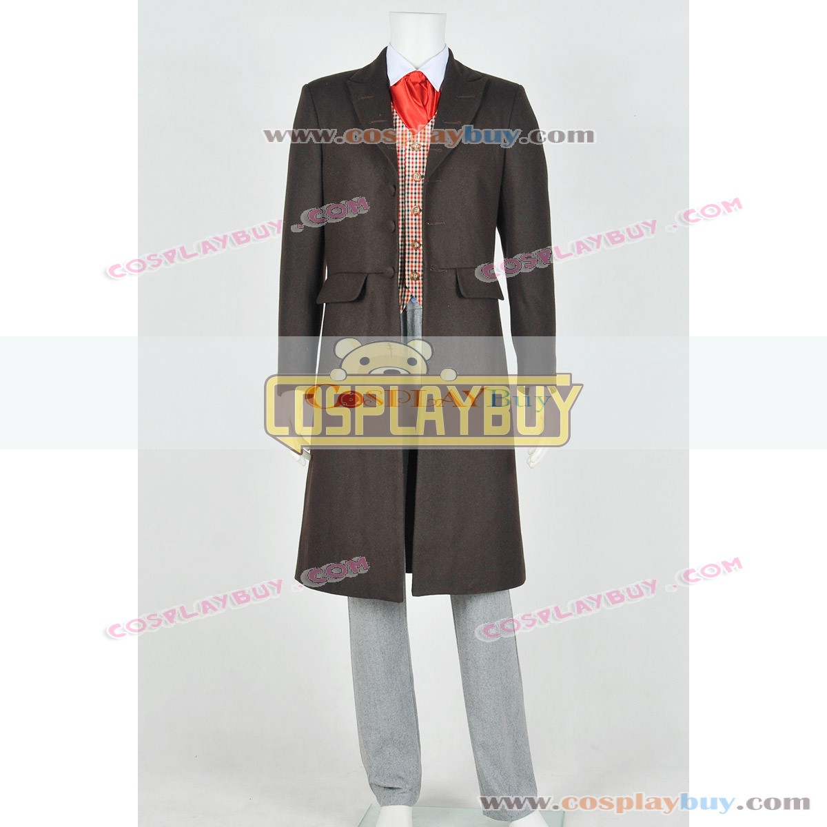Who Cosplay Doctor The 4th Fourth Dr Tom Baker Costume Full Set Suit With Scarf