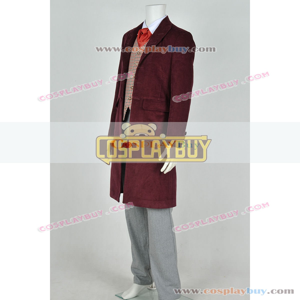Who IS Doctor The 4th Fourth Dr Tom Baker Daily Uniform Cosplay Costume Full Set