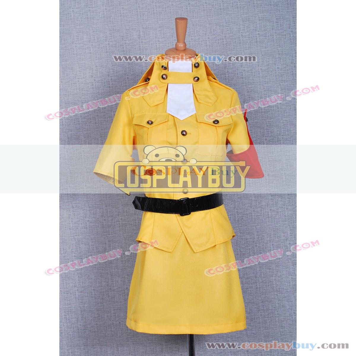 Hellsing Seras Victoria Cosplay Cd: Hellsing Seras Victoria Yellow Uniform Cosplay Costume