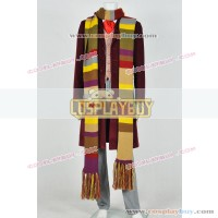 Doctor Who 4th Dr Tom Baker Daily Costume With Scarf
