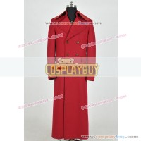 Doctor Who 4th Dr Tom Baker Red Trench Coat