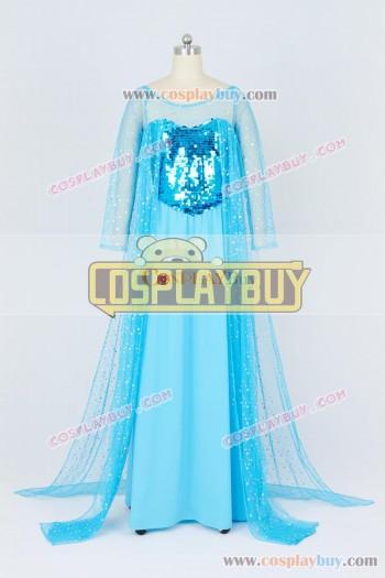 Frozen Cosplay Princess Elsa Blue Dress