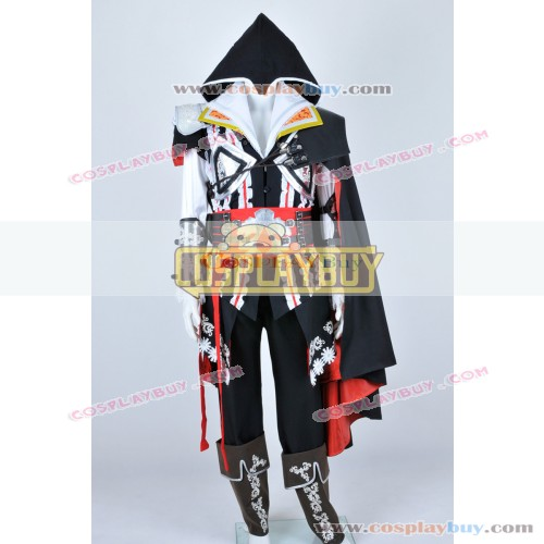 Assassins Creed II Cosplay Ezio Black Uniform