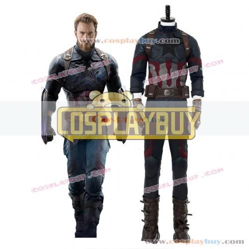 Cosplay Costume From Avengers 3 : Infinity War Captain America Steven Rogers