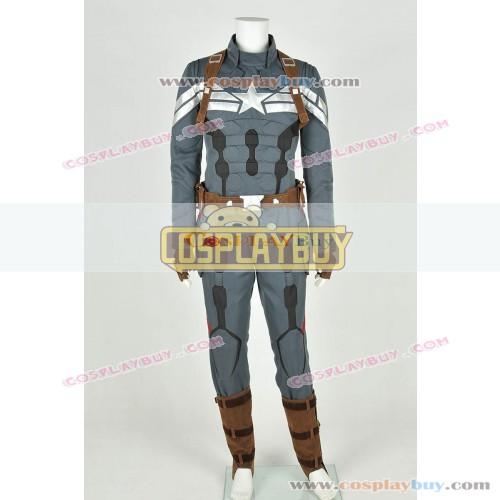 Captain America: The Winter Soldier Costume Steve Rogers Uniform New