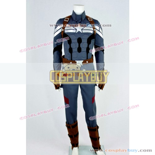 Captain America 2: The Winter Soldier Costume Steve Rogers Uniform