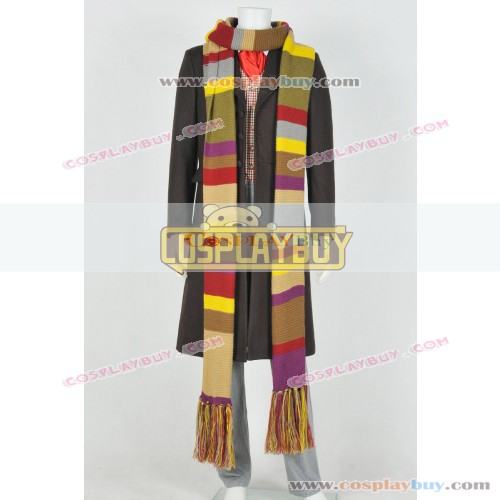 Doctor Who 4th Dr Tom Baker Daily Suit With Scarf