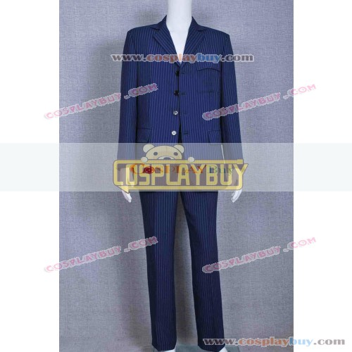 Doctor Who Dr 10th David Tennant Blue Strip Suit
