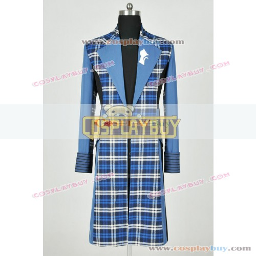 Doctor Who 6th Dr Colin Baker Blue Trench Coat