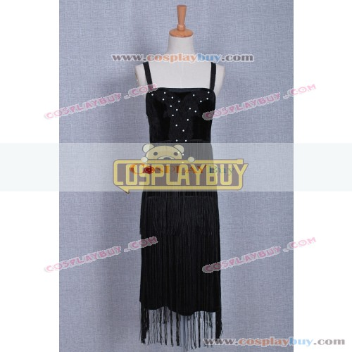 Historical Black Braces Skirt