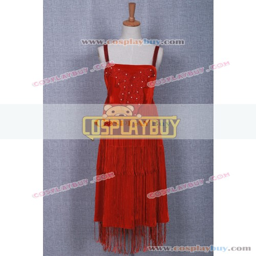 Historical Red Braces Dress
