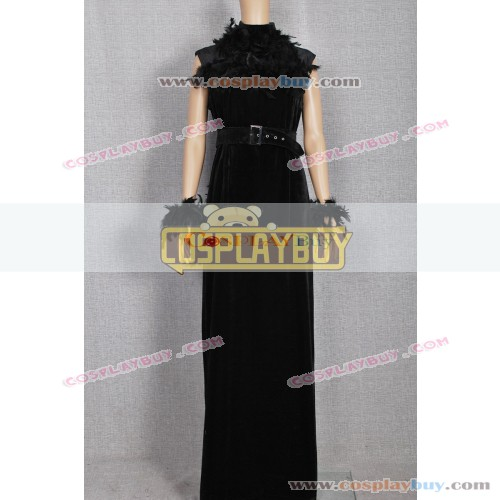 Historical Retro Black Feather Ball Gown