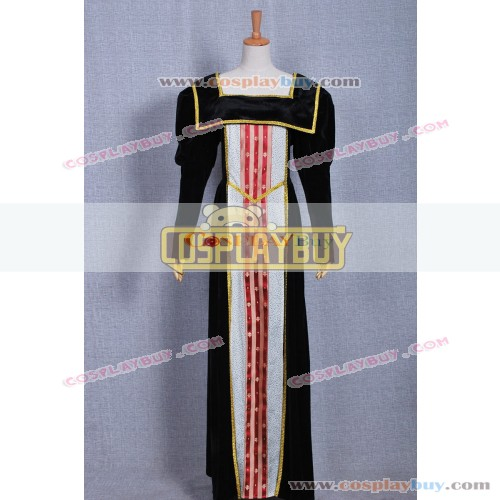 Historical Retro Dress Vintage Black Gown