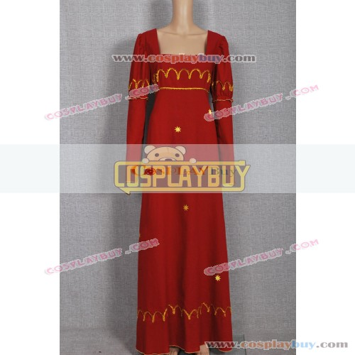 Historical Vintage Red Gown Dress