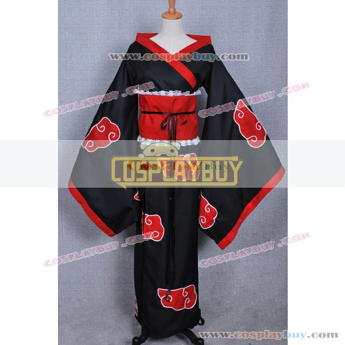 Naruto Cosplay Akatsuki Female Cloak