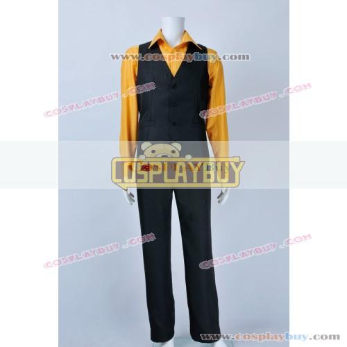 One Piece Cosplay Sanji Costume Yellow Shirt