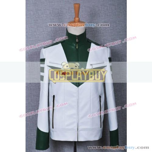 Space Battleship Yamato Green Leather Jacket