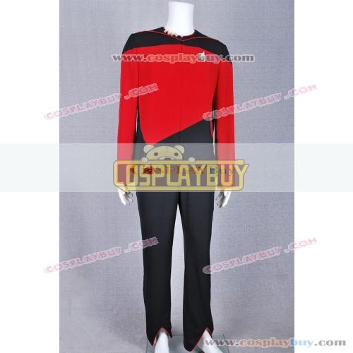 Star Trek Command Red Black Jumpsuit