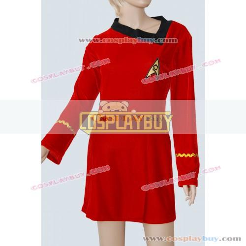 Star Trek TOS Janice Rand Red Velvet Skant Uniform