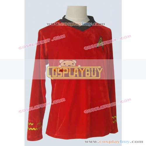 Star Trek TOS Engineering Red Velvet Shirt