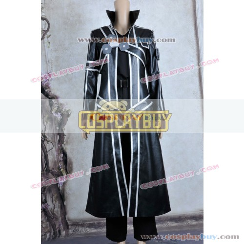 Sword Art Online Cosplay Kirito Costume Leather Ver