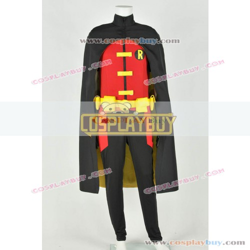 Young Justice Cosplay Robin Costume Jumpsuit Stretchable Cotton Version