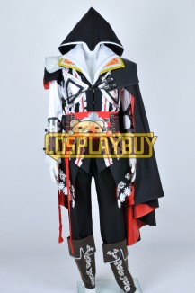 Assassins Creed II Cosplay Ezio Black Uniform