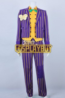 Batman Costume Arkham Asylum Joker Stripe Suit