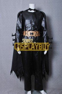 Batman The Dark Knight Bruce Wayne Leather Uniform Costume