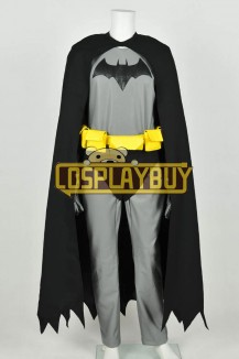 Batman The Dark Knight Costume Bruce Wayne Leather Jumpsuit