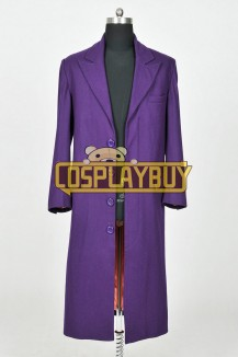 Batman The Joker Costume Purple Trench Coat