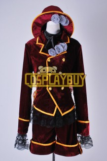 Black Butler Cosplay Ciel Phantomhive Dark Red Velvet Costume