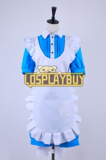 Black Butler Cosplay Ciel Phantomhive Blue Maid Dress