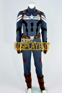 Captain America 2: The Winter Soldier Costume Steve Rogers Uniform