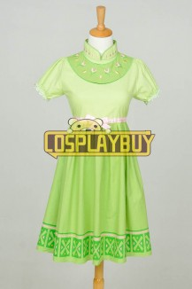 Frozen Cosplay Anna Children Green Dress