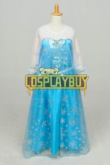 Frozen Cosplay Elsa Dress Children Yarn