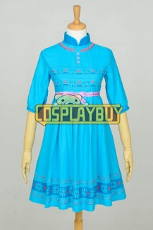 Frozen Cosplay Elsa Children Dress Blue New