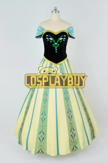 Frozen Cosplay Princess Anna Green Dress