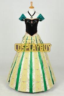 Frozen Cosplay Anna Coronation Dress