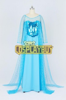 Frozen Cosplay Princess Elsa Blue Dress