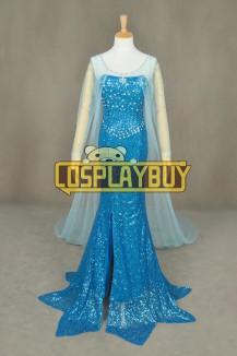 Frozen Cosplay Princess Elsa Snowflake Formal Dress