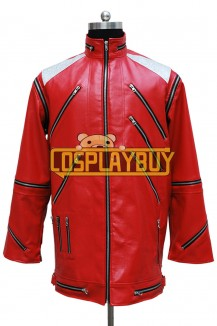 Michael Jackson Costume Red Leather Jacket
