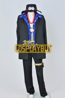 One Piece Cosplay Portgas D Ace Costume Blue Ver