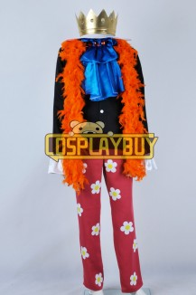 One Piece Cosplay Brook Costume Orange Scarf