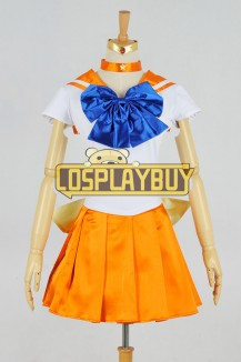 Sailor Moon Cosplay Venus Orange Dress