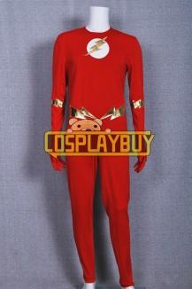 Superhero Costume The Flash Barry Allen Red Jumpsuit