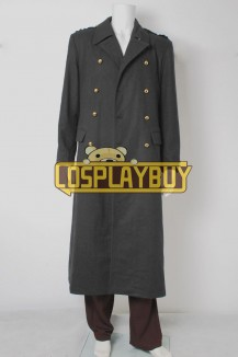 Torchwood Captain Jack Harkness Grey Wool Trench Coat
