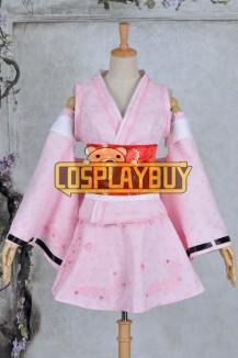 Vocaloid 2 Cosplay Hatsune Miku Cherry Kimono Dress
