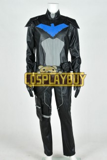 Young Justice Cosplay Nightwing Black Jumpsuit